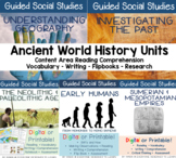 Guided Social Studies: Ancient World History Bundle