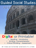 Guided Social Studies: Ancient Rome