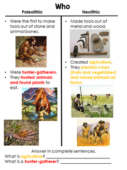 Guided Social Studies: Neolithic and Paleolithic Age