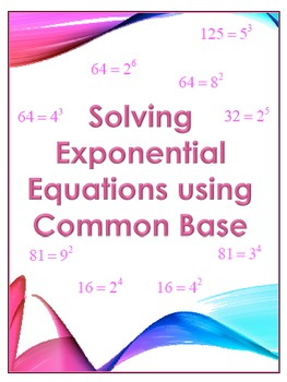 Guided Steps - Exponential Functions-  Solving Exp Fxns wi