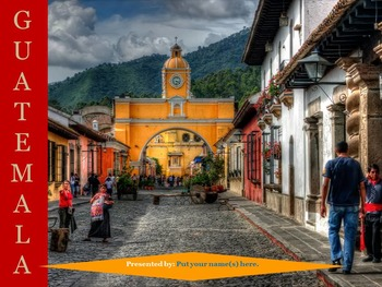 Central America: Research Presentation Templates with Source Links