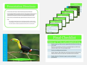 Central America: Scaffolded Research Presentations with Web Links