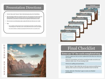 North America: Research Presentation Templates with Source Links