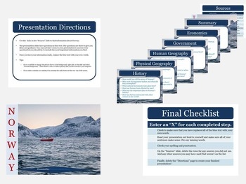 Europe: Scaffolded Research Presentations with Web Links for Nordic Countries