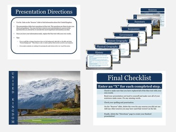 British Isles: Research Presentation Templates with Source Links
