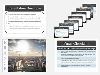 Western Europe: Research Presentation Templates with Source Links