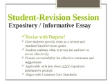 Guided Student Revision - Informative / Expository Writing