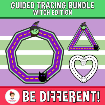 Guided Tracing Bundle Clipart - Witch Edition