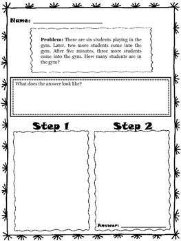 Guided Two Step Word Problems