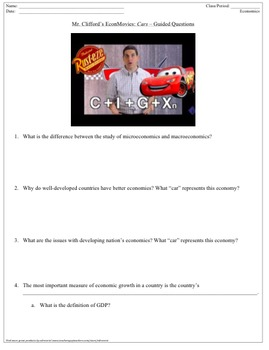 Guided Viewing Questions - EconMovies Cars (GDP)