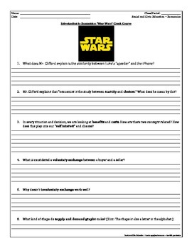 """Guided Viewing Questions: Introduction to Economics - EconMovies """"Star Wars"""""""