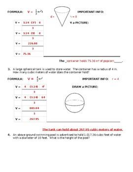 Guided Volume Practice Worksheet