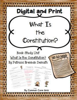 Guided: What Is the Constitution? Common Core, No Prep, Printables