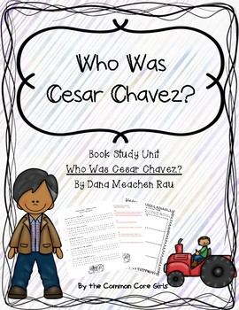 Guided: Who Was Cesar Chavez? Common Core, No Prep, Printables