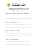 Guided Writing: A Toy from Childhood