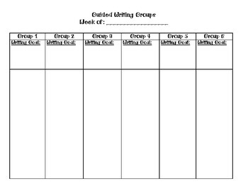 Guided Writing Groups