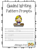 Guided Writing Pattern Prompts for Emerging Writers - writing pages *ONLY*