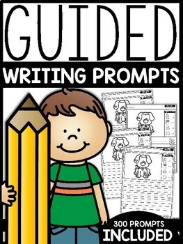 Guided Writing Prompts   GOOGLE™ READY WITH GOOGLE SLIDES™   Distance Learning