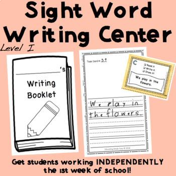 EASY Writing Station for Beginner Readers! Level I Sight Words