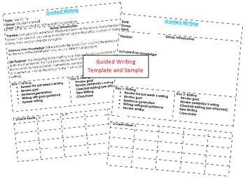 Guided Writing Template and Sample