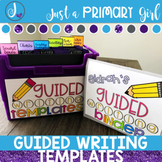 Guided Writing Templates Includes Distance Learning & Digital Learning Templates