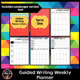 Guided Writing Weekly Planner and Data Log