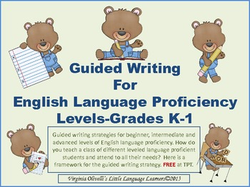 Guided Writing for English Proficiency Levels K-1