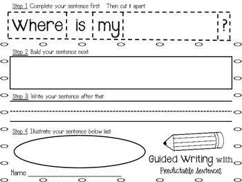 Guided Writing with Predictable Sentences