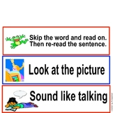 Guided Reading- Guided and Independent Reading Strategy Reminder Tents