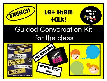 Guided conversation for the French class.