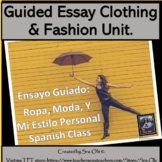 La Ropa Spanish Clothing Write a Guided Essay