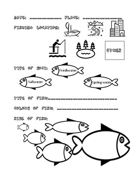 Guided fishing journal for kids