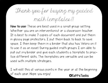 Guided math Templates