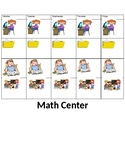 Guided math centers student choice card