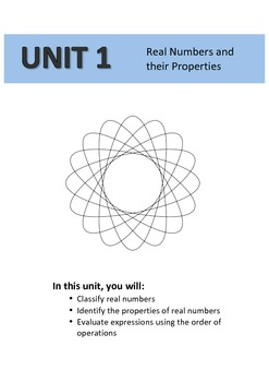 Guided notes - Real Numbers and their Properties