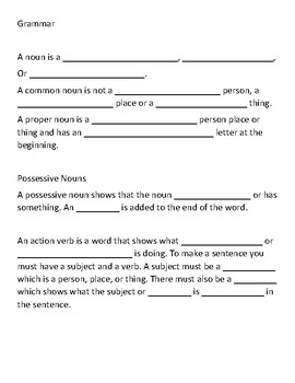 Guided notes - Short I, Nouns - Lesson 2 Journeys