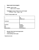 Guided notes for regular present tense conjugation in Spanish