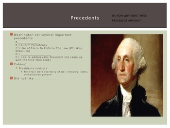 Guided notes powerpoint for time of Washington to War of 1812