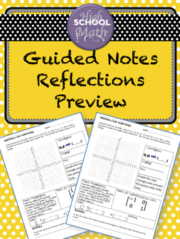 Guided notes:reflections