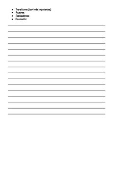 Guided paragraph writing - Spanish for heritage speakers