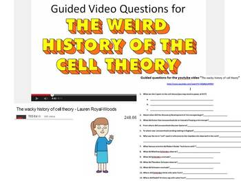 "Guided questions for the video ""The wacky history of cell theory"""