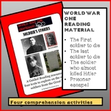 Guided reading: World War One - Soldier's Stories
