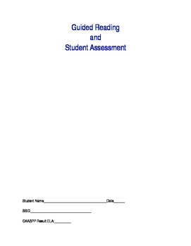 Guided reading and student assessment form