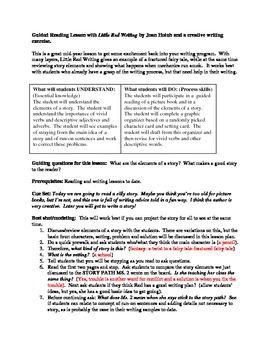 Guided reading and writing lesson using Little Red Writing