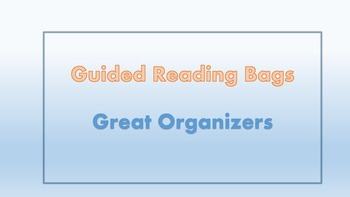 Guided reading bags/organizers