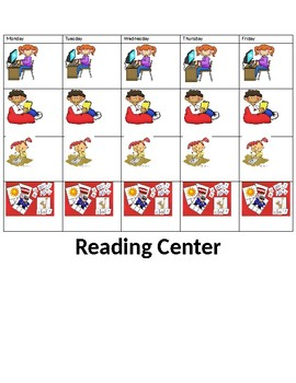 Guided reading center choice cards
