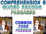 Freebie: Guided reading comprehension passages grade 4 or 5