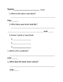 Guided reading forms for Scholastic Science Readers-My Body