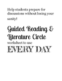 Guided reading packet to use with any novel