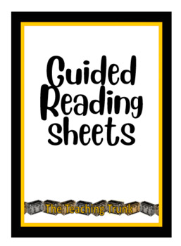Guided reading sheets